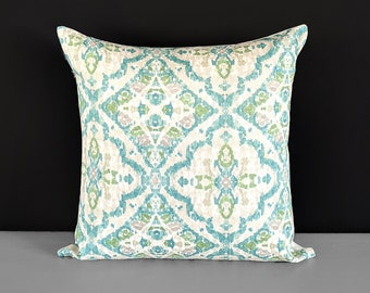 Green Moroccan Print Pillow Cover