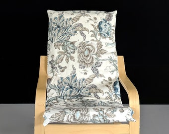 Beige Floral IKEA KIDS POÄNG Cushion Slipcover Ready To Ship