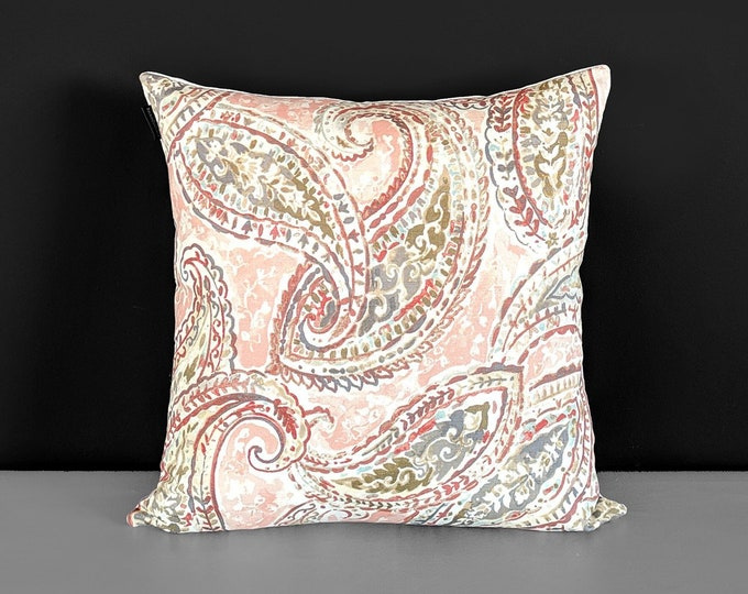 Pink Paisley Pillow Cover