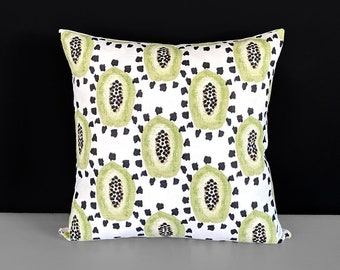 Green Papaya Fruit Pillow Cover