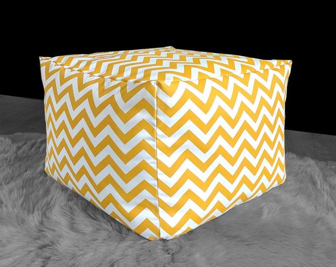 Chevron Yellow Custom IKEA Jordbro Bean Bag Covers