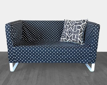 IKEA Sofa Slip Cover for KNOPPARP, Swiss Cross Black