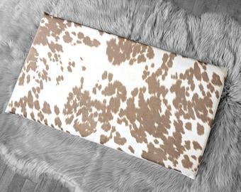 IKEA HEMMAHOS Bench Pad Slip Cover, Cow Print Light Brown, Animal Print, Palomino