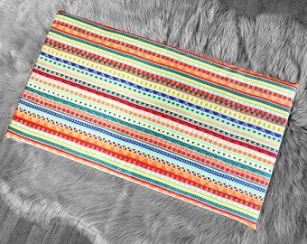 Colorful Fiesta Stripe IKEA VISSLA Bench Pad Slip Cover