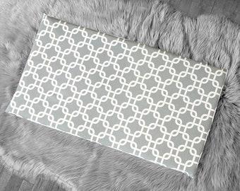 Gray Geometric Print, IKEA STUVA Bench Pad Slip Cover, Gotcha