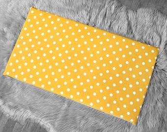 Golden Yellow Polka Dot, IKEA STUVA Bench Pad Slip Cover