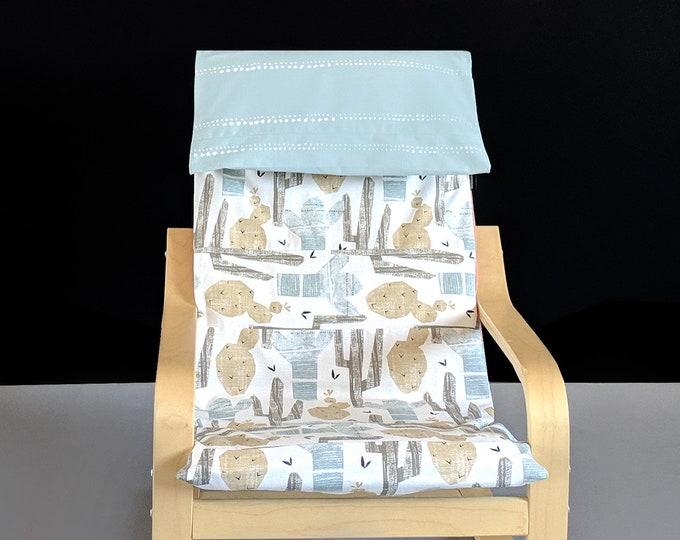 Blue Cactus Santa Fe Print Ikea Poang Chair Cover, Ikea Kids Poang Seat Cover