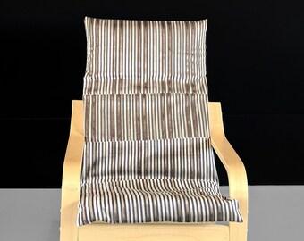 Velvet Stripes IKEA KIDS POÄNG Cushion Slipcover