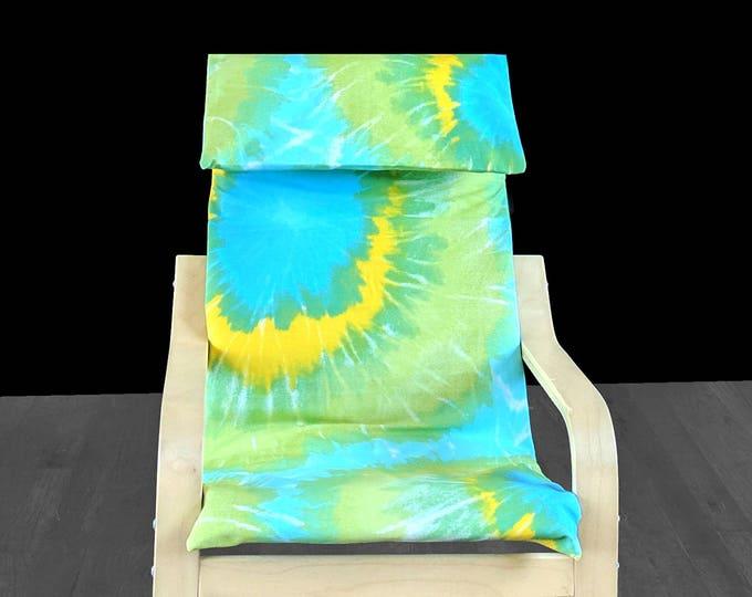 Tie Dye Blue Green Yellow IKEA KIDS POÄNG Cushion Slipcover