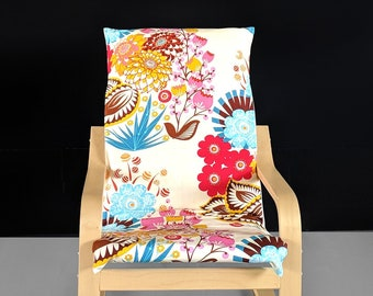 SALE Colorful Flower Kids Ikea Poang Seat Cover