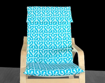 SALE Poang Cover Set, Turquoise Blue IKEA POÄNG Seat Cover