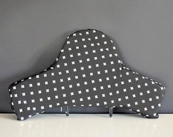 SAMPLE IKEA Highchair Cushion Cover for Klammig, Pyttig, Black Mini Swiss Cross