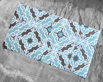 IKEA HEMMAHOS Bench Pad Slip Cover, Blue Brown Moroccan Print