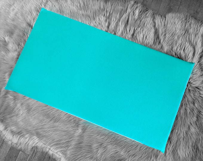Solid Turquoise Blue IKEA HEMMAHOS Bench Pad Slip Cover