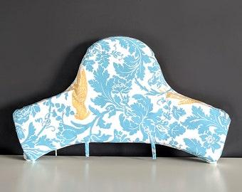 Blue Floral Cockatoo IKEA Baby Highchair Cushion Cover for Klammig, Pyttig