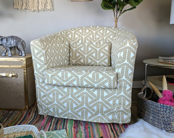 Nautical Rope Print, Beige IKEA TULLSTA Chair Slip Cover