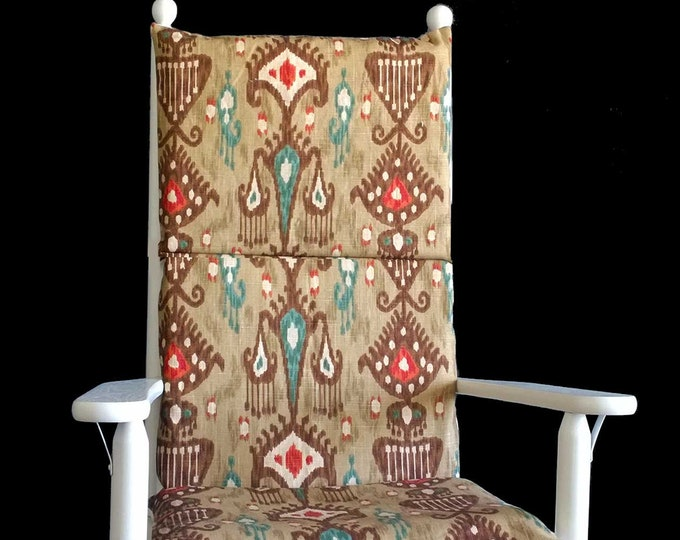 Indian Style Rocking Chair Cover, Colorful Adjustable Seat Covers
