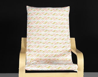 Pink Crystal Arrowheads IKEA KIDS POÄNG Cushion Slipcover