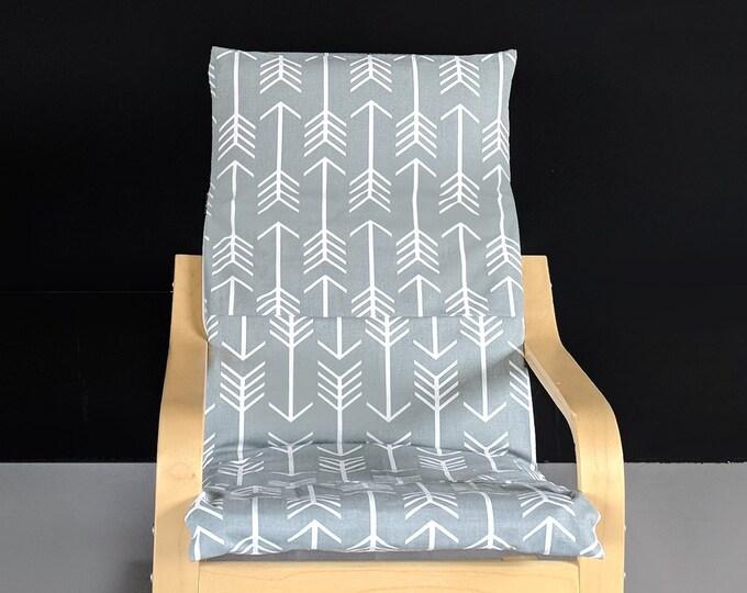 Gray Arrows IKEA KIDS POÄNG Cushion Slipcover