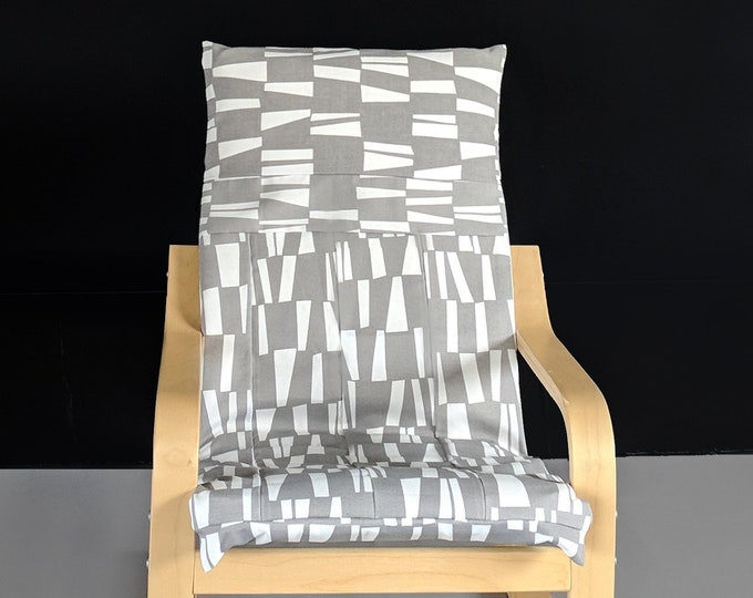 Patchwork Gray IKEA KIDS POÄNG Cushion Slipcover