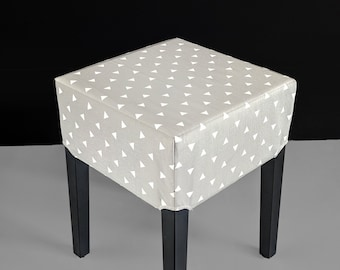 Gray Triangles Stool Cover for IKEA Nils