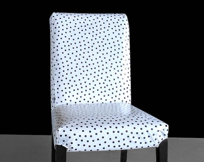 Polka Dot Wipeable Oilcloth Custom IKEA HENRIKSDAL Dining Chair Cover