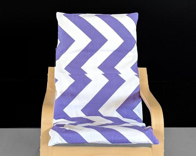 Purple Chevron IKEA KIDS POÄNG Cushion Cover