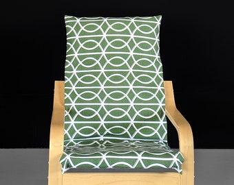 Custom Green IKEA KIDS POÄNG Cushion Slipcover
