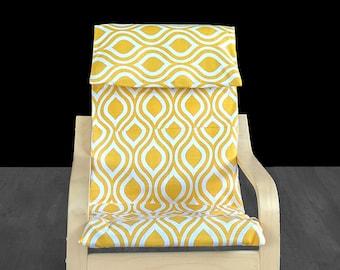 Small Yellow Teardrop IKEA KIDS POÄNG Cushion Slipcover