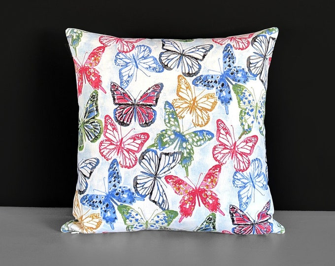 Multicolored Butterflies Pillow Cover