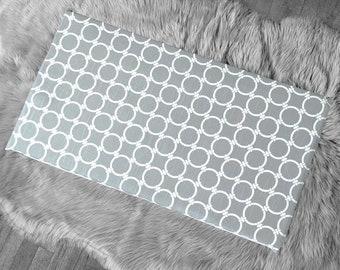 Gray Circles Print, IKEA STUVA Bench Pad Slip Cover
