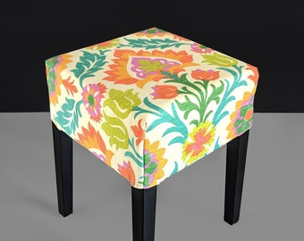 IKEA Stool Cover Mexican Floral Mimosa