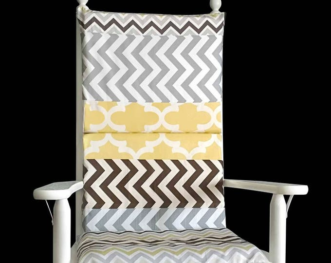 Patchwork Rocking Chair Cushion Cover