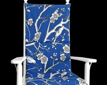 Reversible Adjustable Blossom Rocking Chair Cushion