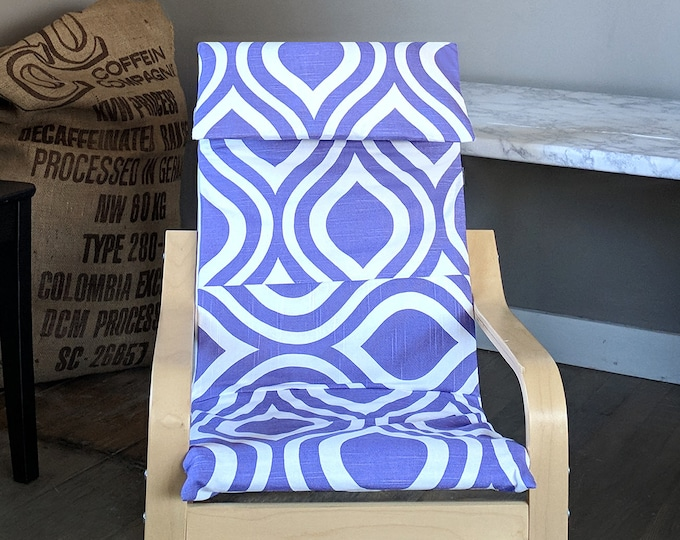 Purple Patterned Child's Ikea Poang Seat Cover