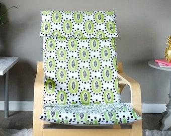 Green Papaya Fruit Ikea Poang Chair Cover