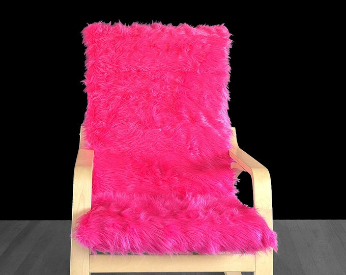 Hot Pink Fur IKEA POÄNG Cushion Slipcover, Custom Fur Ikea Chair Cover