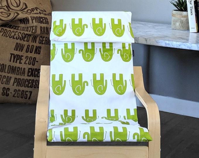 SAMPLE Green Elephant Kids Ikea Poang Chair Cover