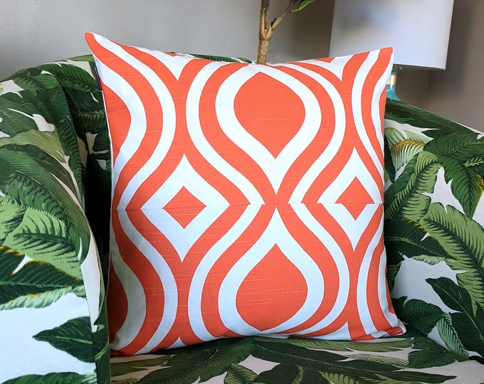 Orange Retro Style Pillow Cover