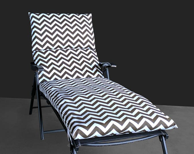 IKEA OUTDOOR Slip Cover, Multiple Prints Outdoor Covers, Chaise Pad Cover, Chair Pad Cover, Zig Zag Chevron Brown