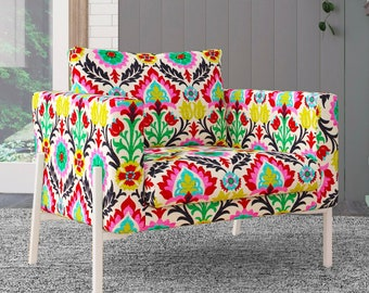 IKEA KOARP Armchair Covers, Colorful Floral Chair Cover