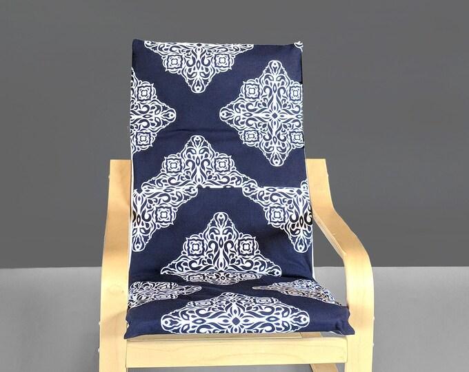 Navy Blue KIDS POÄNG Cushion Seat Cover
