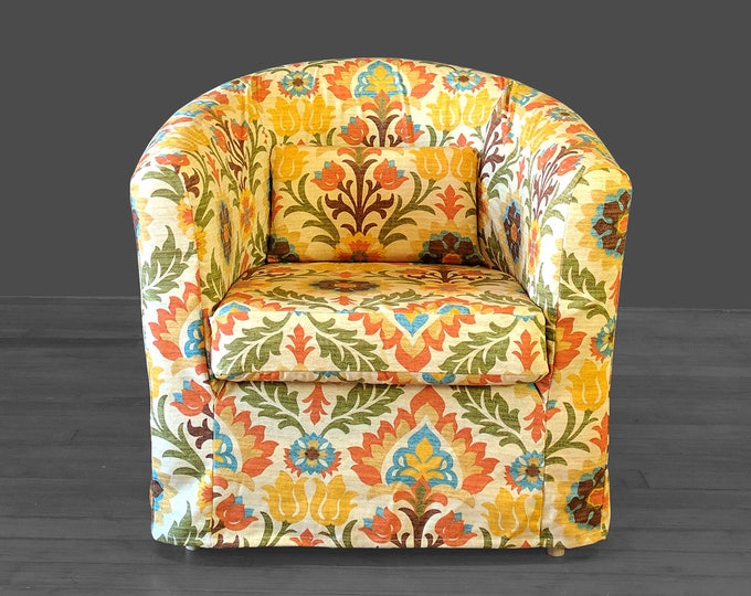 Vintage Style Flower Print Ikea Tullsta Chair Cover