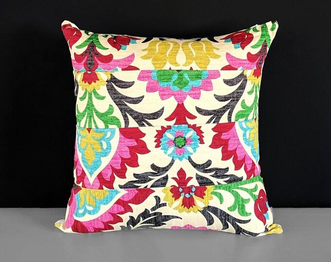 "Patchwork Pillow Cover Santa Maria Desert Flower 18"" x 18"""