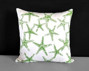 Green Starfish Pillow Cover