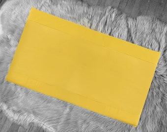 Solid Mustard Gold IKEA Window Seat Cushion Cover