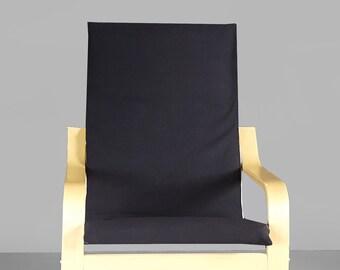IKEA KIDS POÄNG Cushion Slip Cover, Solid Black Ready to Ship