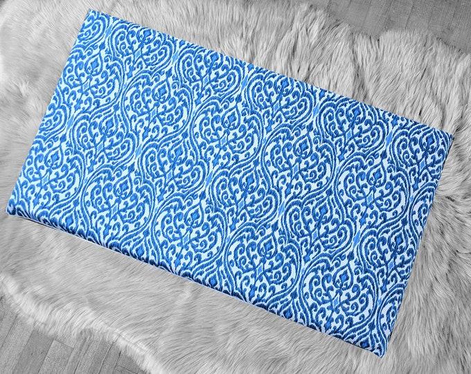 Blue Indian Ikat Print, IKEA STUVA Bench Pad Slip Cover