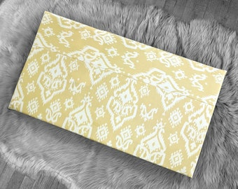 Yellow Ikat Indian Print IKEA STUVA Bench Pad Slip Cover