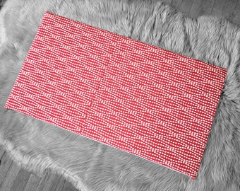 Spotty Red IKEA Bench Pad Slip Cover